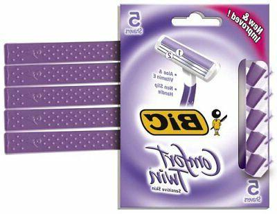 Bic Softwin Disposable Shaver For Womens - 5 Each, 12 Packs