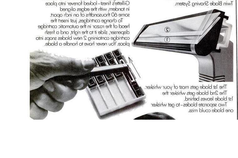Gillette Trac Metal Razor Handle Schick Shaver