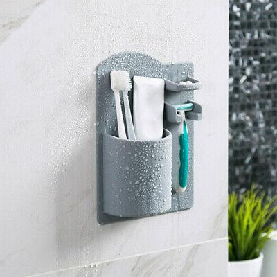 Wall Mounted Toothbrush Shaver Holder Rack