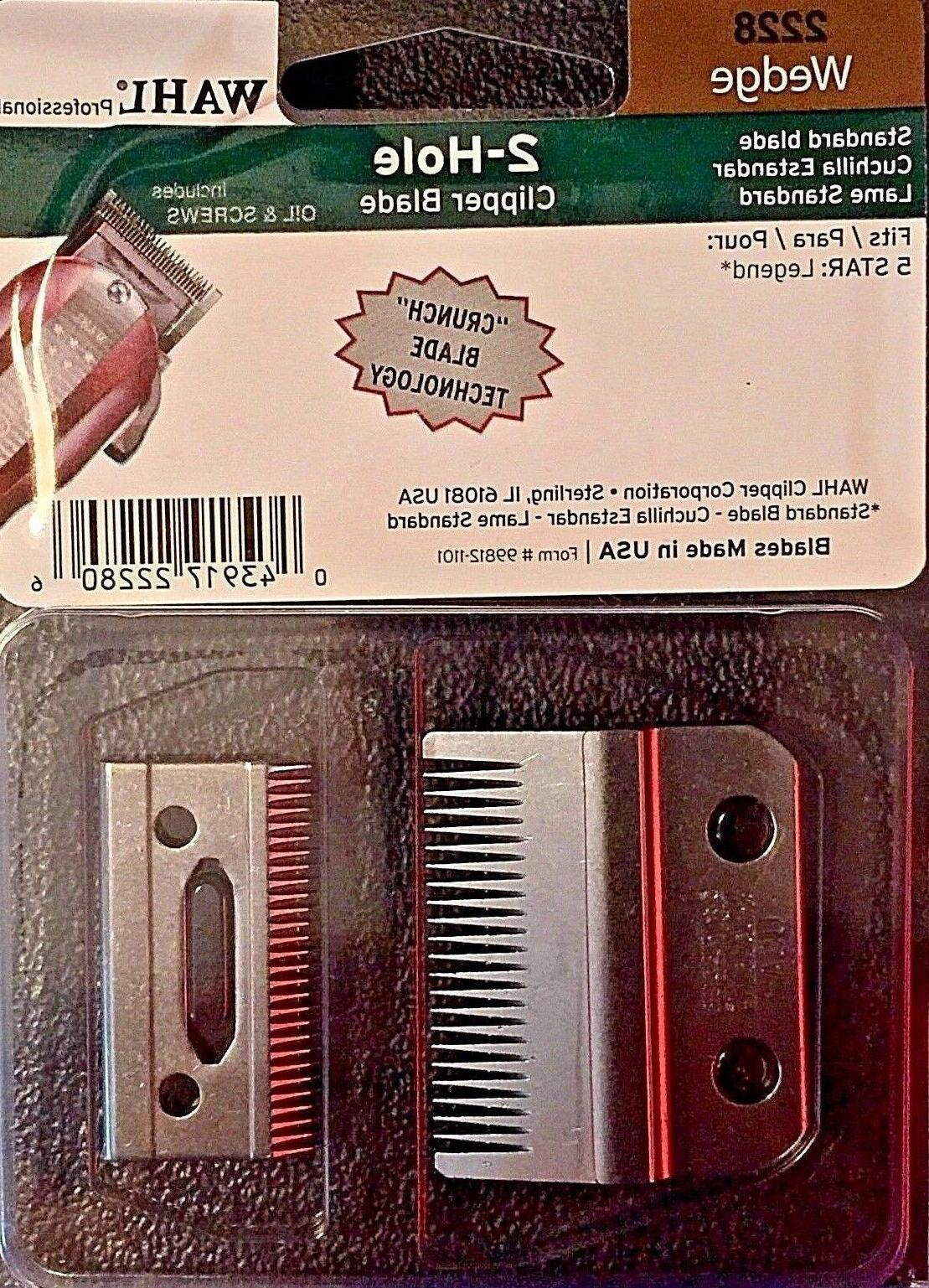 WAHL PROFESSIONAL WEDGE 2 HOLE BLADE #2228 FOR LEGEND CLIPPE