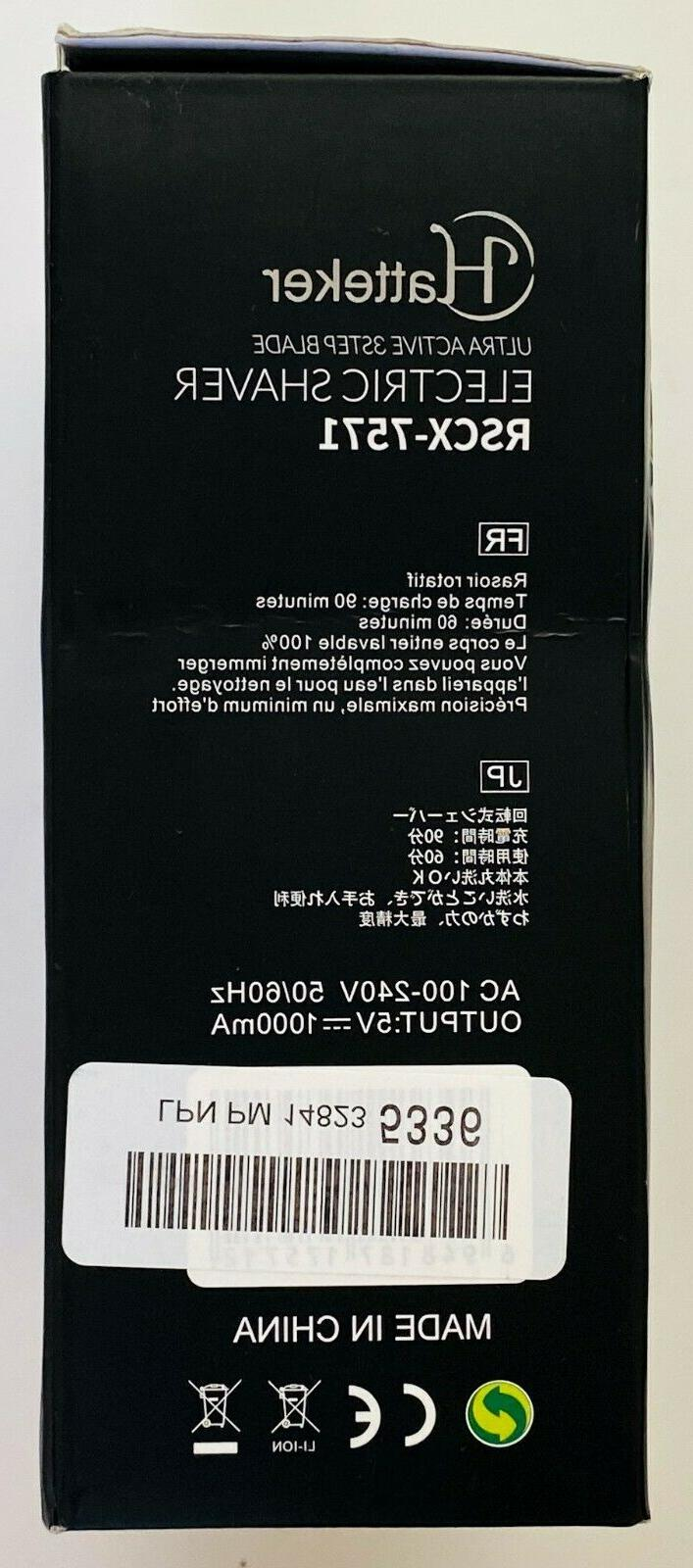 Hatteker Dry Electric Shaver Trimmer RSCX-7571 Waterproof