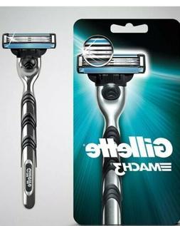 Gillette Mach 3 Razor Blade Shaver 1 Cartridge Metal Handle