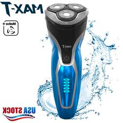 MAX-T Rechargeable Rotary Electric Shaver Razor Beard Dry We