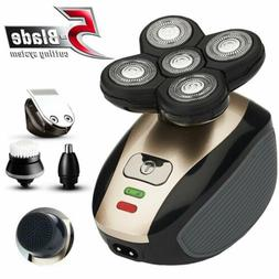 5IN1 4D Rotary Electric Shaver Rechargeable Bald Head Shaver