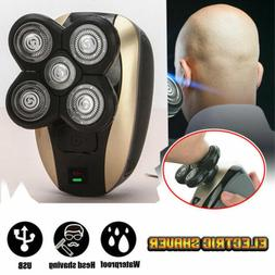 Men 4D Rotary Electric Shaver Rechargeable Bald Head Shaver