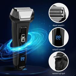 Men Electric Foil Shaver Rechargeable Cordless Razor Wet Dry