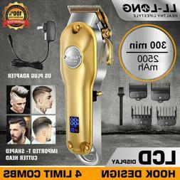 Men's Rechargeable Electric Shaver Bald Razor Hair Beard Tri