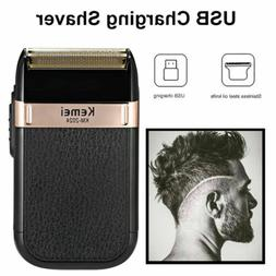 KEMEI Men's USB Rechargeable Electric Shaver Cordless Barber