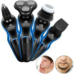 Mens 3 in 1 Electric 3D Shaver Beard Nose Trimmer Rechargeab