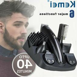 Electric Shaver Bread Nose Hair Trimmer 6 in 1 Men's Shaver