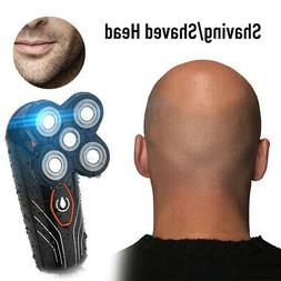 Mens Electric Shaver 5 Head Floating Beard Hair Trimmer Remo