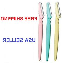 NEW 3 PCS  EYEBROW RAZOR Face Eye Brow Hair Removal Trimmer