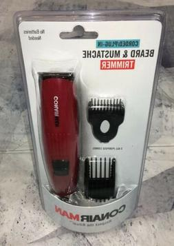 New Mens Sealed Conair Beard & Mustache Trimmer Corded Kit S