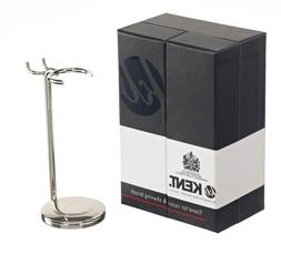 Kent Nickle Plated Razor and Shaving Brush Stand