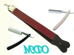 """ODM 2 Old Fashion Straight Razor with 14"""" Razor Strop"""