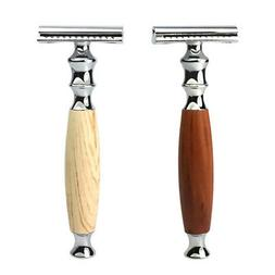 Pack of 2 Safety Razors Classic Vintage Shaving Shaver Facia