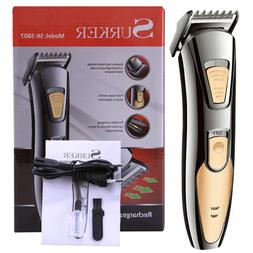 Pro Electric Hair Clipper Rechargeable Cordless Adjustable T