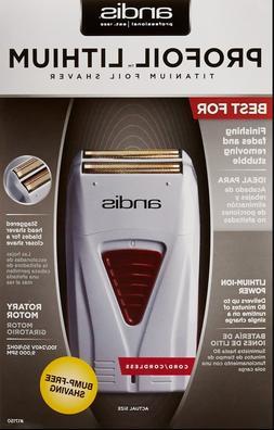 Andis Profoil Lithium Titanium Foil Shaver Cord Cordless #17