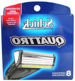 Schick Quattro Refills - 8 Cartridges.