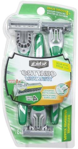 Schick Schick Quattro Titanium For Men Sensitive Skin Dispos