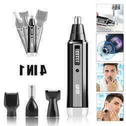 Rechargeable Men Ear Nose Hair Trimmer Beard Razor Electric