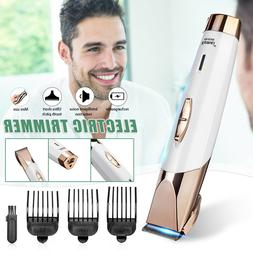 Rechargeable Men Electric Hair Clippers Pusher Head Shaver H