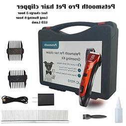 Petsmooth Rechargeable pet Hair Clippers Super Cutting Power