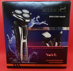 Surker RSCX-9598 Electric Shaver Wet/ Dry 3 in 1 With Nose T