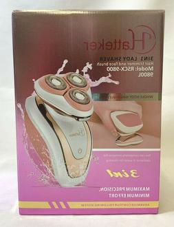 Hatteker RSCX-9800l 3 IN 1 lady shaver Rechargeable Waterpro