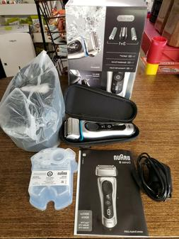 Braun Series 8 8370cc Wet/Dry Electric Shaver w/ Clean & Cha