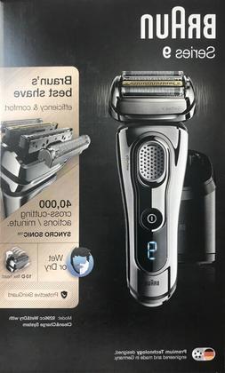 Braun Series 9 9296cc Men's Electric Shaver Wet/Dry Clean &