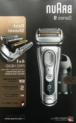 Braun Series 9 9390cc Latest Generation Electric Shaver + Ch