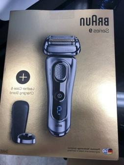 Braun Series 9 SyncroSonic Men's Shaver Kit With Leather Cas