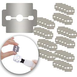 Set of 50pcs Stainless Steel Replacement Razor Blades for Fo