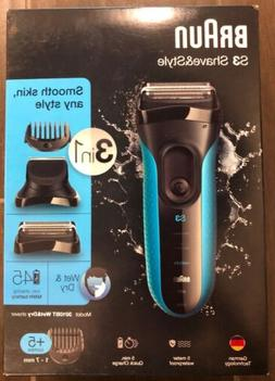 Braun Shave & Style 3010BT 3-in-1 Men's Wet & Dry Electric S