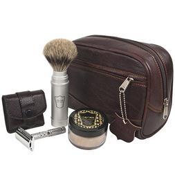 Parker Travel Shave Kit - Includes Parker Safety Razor's Dop