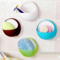 Shower Organizer Bathroom Soap Sponge Plastic Cup Round Shav