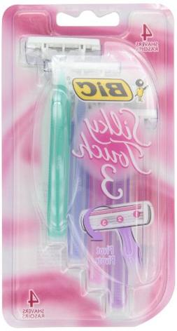 BIC Silky Touch 3 Disposable Shaver, Women, 4-Count