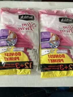 Schick Slim Twin ST 2 Disposable Razors for Women Sensitive