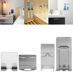 stainless steel wall mount shaver toothbrush suction