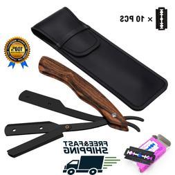Straight Edge Steel Shaving Kit Razor Shavette Professional