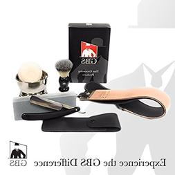 Straight Razor Shaving Set / Kit - Comes in Gift Box!, 5 Pc