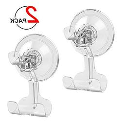 Suction Cup Hook LUXEAR Transparent Reusable Hook Razor Hold