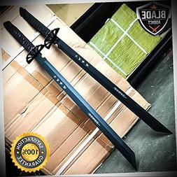 2 PC Full Tang Large 26'' Ninja Samurai Twin Tanto Blade Swo