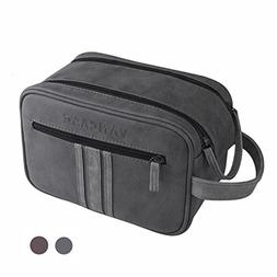 Travel Toiletry Bag for Men, Vancase Vintage Leather Dopp Ki