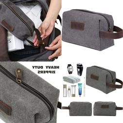 Wowbox Toiletry Bag for Men Canvas Travel Organizer Shaving
