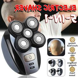 US 5 IN1 4D Rotary Electric Shaver Rechargeable Bald Head Be