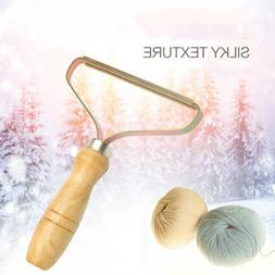 US Portable Copper Head Wood Handle Lint Ball Remover Clothe