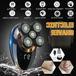 USB Rechargeable Electric 5 Heads Bald Head Shaver Hair Bear