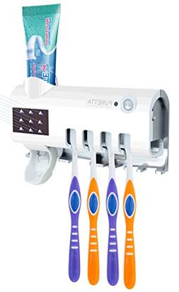 Puretta UV Toothbrush Holder Sanitizer Sterilizer Wall Mount